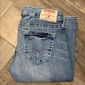 True Religion blue jeans, boot cut, size 26.